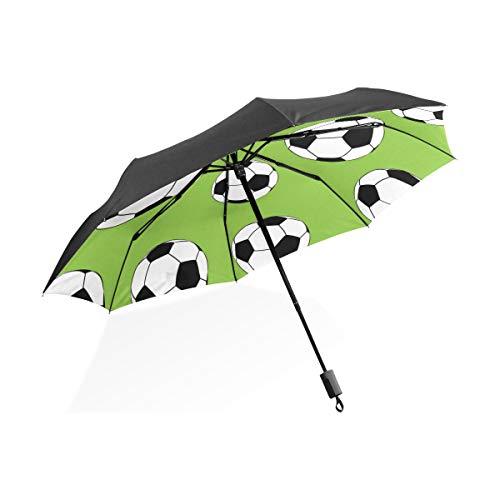 Regenschirm Für Kinder Jungen Fußball Outdoor Sport Versorgung Tragbare Kompakte Taschenschirm Anti Uv Schutz Winddicht Outdoor Reise Frauen Regenschirme Für Männer
