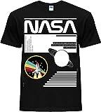 NASA Camiseta unisex novedosa para hombre y mujer, estilo casual, para explorar camisas clásicas Moon SpaceX Shuttle Apolo Anniversary Logo Launch In to Rainbow Negro Negro ( 60
