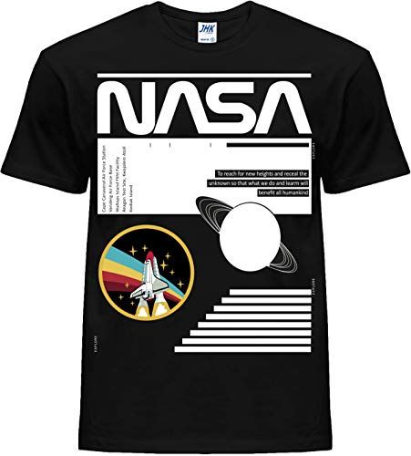 NASA Camiseta unisex novedosa para hombre y mujer, estilo casual, para explorar camisas clásicas Moon SpaceX Shuttle Apolo Anniversary Logo Launch In to Rainbow