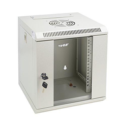 HMF 63306-07 Serverschrank 10 Zoll, 6 HE, Netzwerkschrank, Wandschrank, 10