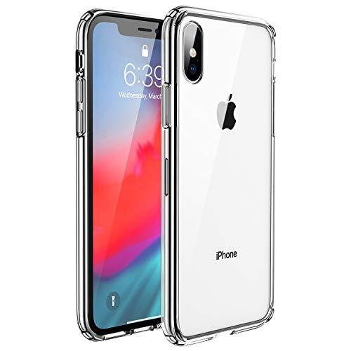 UNBREAKcable Kompatibel mit iPhone X Hülle, iPhone XS Hülle - Crystal Clear [Antirutsch und Fallschutz] Handyhülle iPhone X/XS, Hartplastik Rückseite und Weich Silikon Bumper Hülle, Schutzhülle