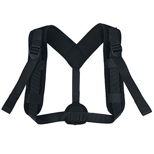 Hvoz - Tirantes correctores de espalda, correctores de postura ajustables, soporte de fractura de clavícula para espalda y hombros, para hombres y mujeres