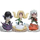 Huhu 3 unids/Set Naruto Shippuden Tsunade Girls Jiraiya Orochimaru Figura PVC Modelo Coleccionable N...