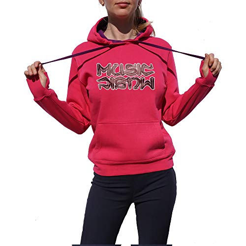 Wild Soul Tees, Pullover Hoodie, Musique dans ma vie | Série de musique | Design Graphique | Logo | Vêtements | Ligne de vêtements - Rose - Small