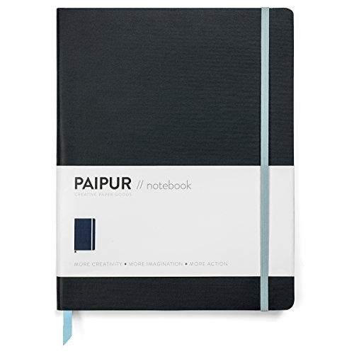 Premium Bullet Journal with Lined + Dotted Notebook Paper ~ WIDE 0.39' Spacing ~ Large 9.75' x 7.5' Softcover ~ Luxe 100 GSM Paper for All Pens with No Bleed