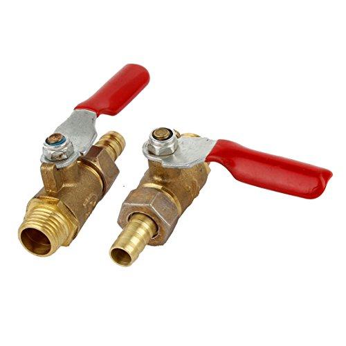13 mm 1/4PT A de rosca 6 mm x 8 mm Barb acoplador manguera de Gas válvula de bola con llave