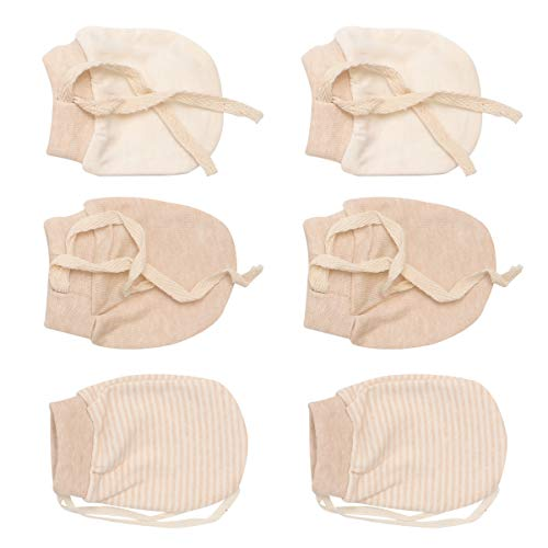 PRETYZOOM 3 Paare Baby Handschuhe Neugeborene Anti Kratz Fäustlinge Einstellbar Kratzhandschuhe Nette Kratzfäustlinge Baumwollhandschuhe für Infant Säugling Jungen Mädchen