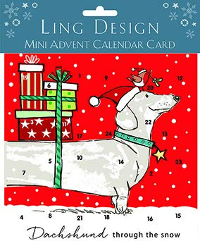 Advent Calendar Card- Dachshund Through The Snow