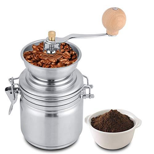 INEP Beweglicher Edelstahl-Mahlwerk - Manuelle Kaffeemühle, Bohne Flavor Grinder Handkaffeemühle |