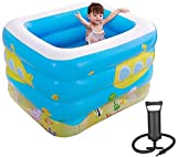 RTUHRJLXJ Summer Fashion Falten Swimmingpool for Erwachsene Und Kinder Im Freien Garten-Pool Spritzen Kinderheime, Handpumpe, 115 * 95 * 75cm