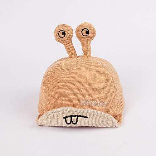 wopiaol Kinderhüte Herbst- und Wintermodelle aus Reiner Baumwolle, Dicke, warme Schneckententakel, weiche Krempenkappen, koreanische Cartoon-Babymützen