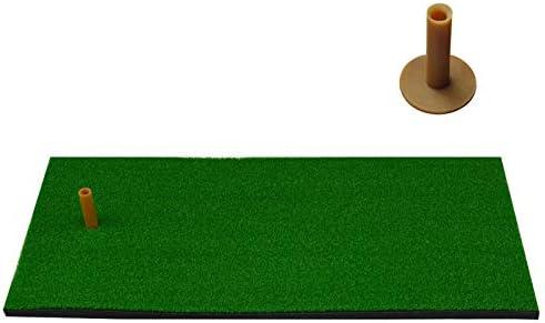 KINGDUO Colchoneta de Golf Césped simulado Hogar Residencial Campo de Golf Pad de práctica Colchoneta de práctica de Columpio Interior con Pelota de Golf Soporte de tee de Entrenamiento de Goma - C