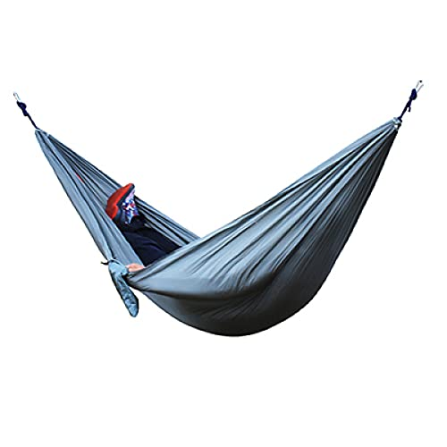 Aiong Hamaca, Hamaca Doble Individual para Adultos, al Aire Libre, mochilero, Viajes, Supervivencia, Caza, Cama para Dormir, portátil