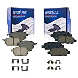 Detroit Axle - Front and Rear Brake Pads Replacement for Infiniti FX35 FX45 Nissan...