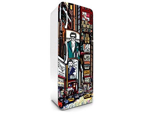Times Square koelkaststicker, 65 x 180 cm, stickers - fotobehang, decoratieve folie, decoratieve stickers, premium vinyl kwaliteit