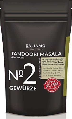 Tandoori Masala Gewürzmischung, gemahlen 250 g Indisches Gewürz intensiv-würzig, geeignet für Geflügel, Reis, Hackfleisch, Grillgewürz, zum marinieren und einlegen von Fisch Fleisch Gemüse| Saliamo