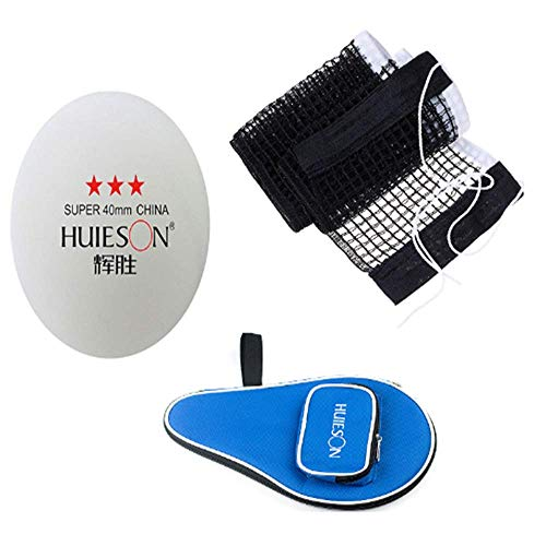 Affordable HJKL Table Tennis Table Replacement Net,Table Tennis Bag,Ping Pong Balls,Suitable for Ind...