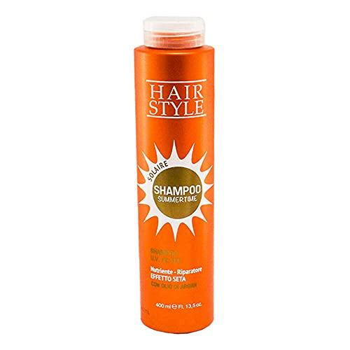 Champu con Filtro UV Aceite de Argan 400ml, Shampoo SummerTime para el cuido del Cabello en Verano con proteccio UV