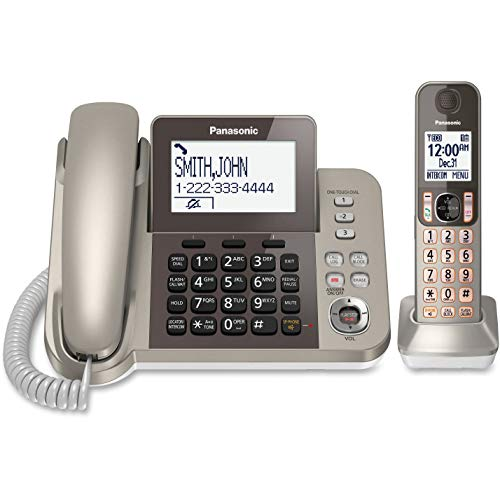 New PANASONIC KX-TGF350N DECT 6.0 Corded/Cordless Phone System with Caller ID & Answering System (1 Handset)