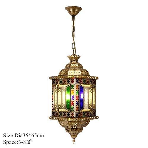 Hanglamp, industriële hanglamp van koper in hanglamp Zuidoosten creatief bronzen antieke lantaarn voor bar cafe fixture, E
