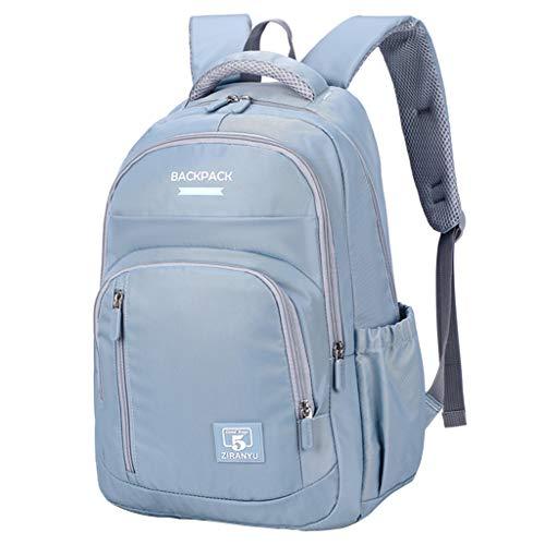 Mochila infantil para niñas y niños, mochila para escuela primaria, mochila para adolescentes de grado 3 a 6, azul/gris (Azul) - D1908SB13404
