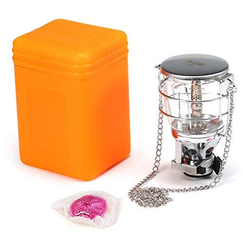 Walmeck Mini Linterna de Gas portátil para Acampar, lámpara Colgante de Gas butano, lámpara de Tienda de luz