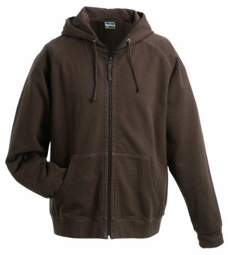 James & Nicholson Herren Hooded Jacket Kapuzenpullover, Braun (Brown), X-Large