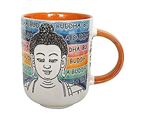 Blue Sky Ceramic Buddha Mood 18 Oz Mug, Multi