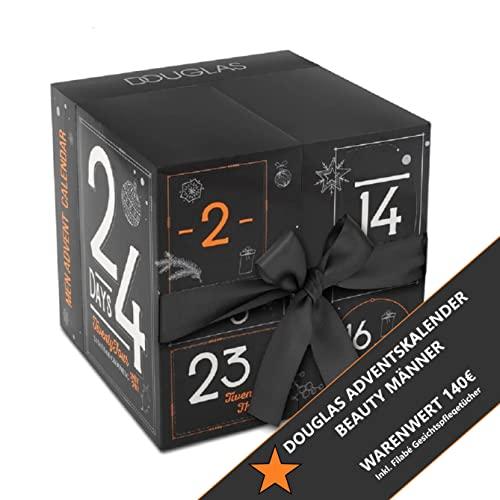 Douglas Adventskalender 2021 Männer Beauty -EXKLUSIV EDITION- 24 Pflege Beauty Kosmetik Advent Kalender für den Mann, Weihnachtskalender Wert 140 €, Herren