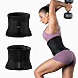 FREETOO Waist Trainer for Women Weight Loss Sweat Belt, Double Adjustment Premium Waist Trimmer for Slimming, Running, Workout
