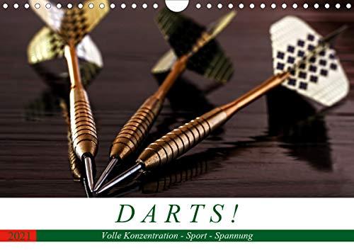 Darts. Konzentration - Sport - Spannung (Wandkalender 2021 DIN A4 quer)