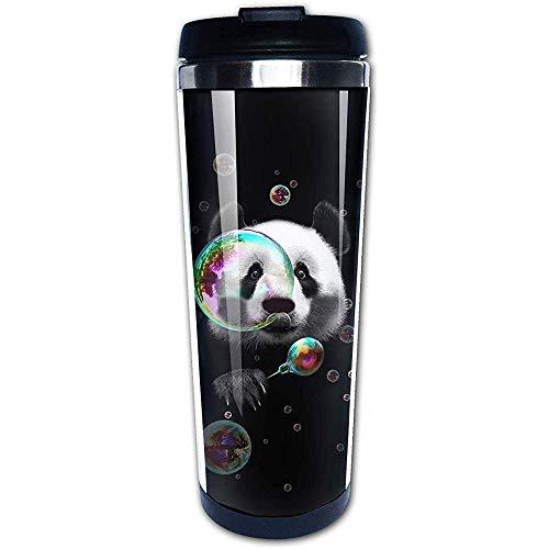 Yuanmeiju Panda Blow Bubbles Bubble Maker Divertidas tazas de café Botella de agua de acero inoxidable Taza Taza de viaje Vaso de café
