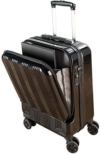 Xcase Koffer mit USB Anschluss: Handgepäck-Trolley mit Laptop-Fach, Powerbank-Anschluss, TSA, 30 l (Handgepäck Koffer mit Powerbank)