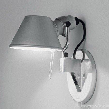Artemide Tolomeo Micro Spot LED en aluminium, avec interrupteur à intensité variable,