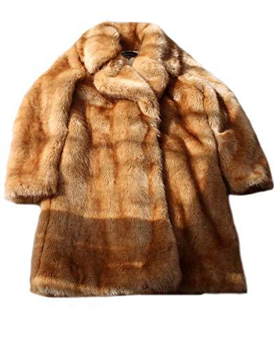 FOLOBE hochwertige weiche Faux Fuchspelz Mantel Jacke