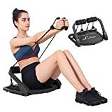 MBB Ab Crunch Machine,Exercise Equipment for Home Gym Equipment for Strength Training with Resistance Bands, Abs and Total Body Workout,Sole Brand and Patent Owner(Black)