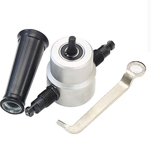 Hycy Metall Schneiden Doppelkopf Blatt Nibbler Säge Cutter Tool Drill Tackle Auto Reparatur Blech Werkzeuge Mithelfer