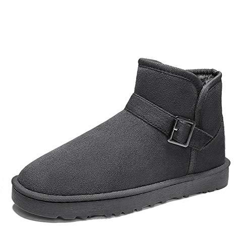 FOGUO Męskie i damskie buty śnieżne ciepłe i aksamitne buty outdoorowe wodoodporne/antypoślizgowe buty odpowiednie do śniegu, biegania, sportu, narciarstwa, szary-39