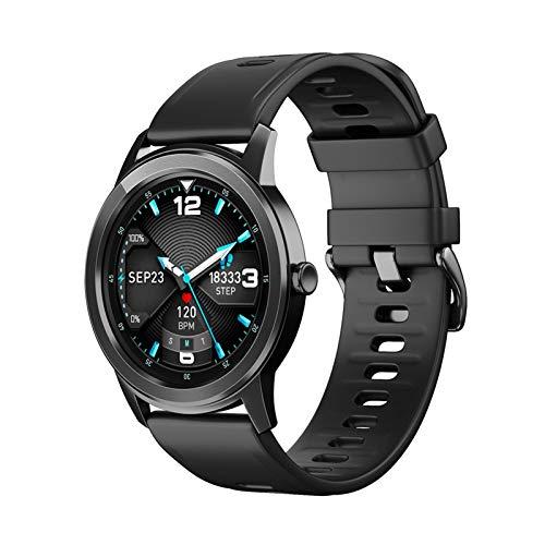 YNLRY Monitor de ritmo cardíaco, reloj inteligente impermeable, para información Android, monitor de ritmo cardíaco, fitness, color negro