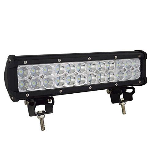 Auxtings 12 '' 72W LED Barra de luz de trabajo Punto de inundación Camión todoterreno SUV 4WD Luces antiniebla de conducción