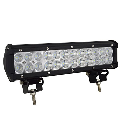 AUXTINGS 30.5 cm 72W LEDライトバースポットライト広角狭角コンビネーションビームオフロードLED作業灯、オフロード車に最適4x4 Atvs Utvs建設機械、船舶、魚採集灯