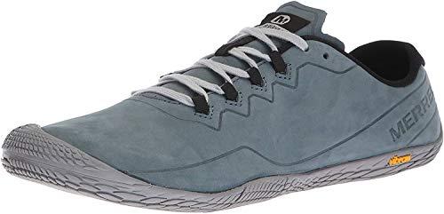 Merrell Herren Vapor Glove 3 Luna Leather Sneaker, Grau (Slate), 43.5 EU
