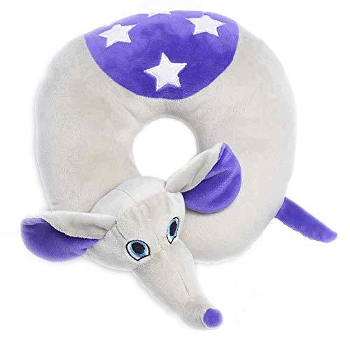 Travel Blue Kinder-Nackenkissen 283 Flappy der Elefant Reisekissen Flauschiges Reisezubehör für den perfekten Schlaf bequem & erholsam in den Urlaub