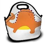 Bolsa de almuerzo de aislamiento térmico de dragón con bandas de Png naranja de dibujos animados personalizados, bolsa de almuerzo de bolso personal
