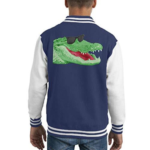 Cloud City 7 Happy Crocodile Kid's Varsity Jacket