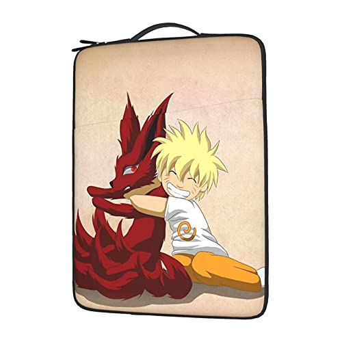 Anime Naruto Kurama Laptop Sleeve Protective Soft Padded Zipper Cover Carrying Computer Bag With 13-15in Notebook Tablet15.6 inch