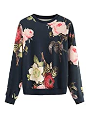 Long Sleeve,Round Neck,Floral Print Sweet and cute, perfect for daily wear Please refer to the size measurement below Regular fit,Stretchy fabric ,100% Polyster All the printed patterns are printed by random, each one is unique.