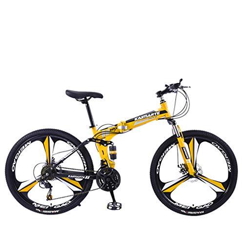 Mountainbike MTB, 26 Zoll Fette Reifen Fahrrad, Fahrrad mit Scheibenbremsen, Rahmen aus Kohlenstoffstahl, MTB Fahrrad für Herren und Damen,21 Speed,Black 3 Spoke