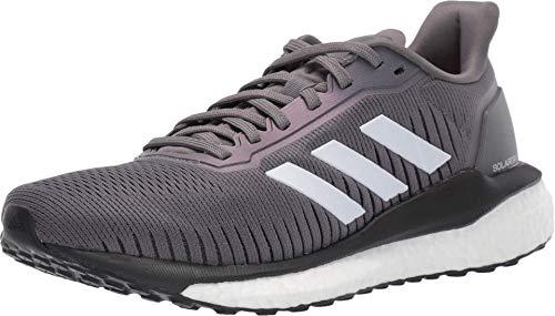 adidas - Solar Drive 19 - Zapatillas de correr para mujer, (Gris Cuatro/Calzado Blanco/Rosa Brillante), 41 EU