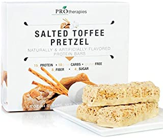 ProTherapies Protein Bar 15g - Low Carb High-Protein Weight Loss Snack Bar for Healthy Diets, Salted Toffee Pretzel, 7 Count